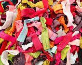 Grab bag of 100 hair ties ( hair elastics ) : Bridesmaid & House Party gifts, ribbon elastic hair ties. $38.50, via Etsy.