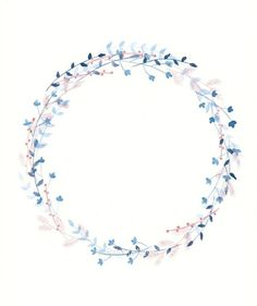 Winter Wreath, by Paloma Navio Following Botanical Watercolour Wreath Tutorial here:  https://thepostmansknock.com/botanical-watercolor-wreath-tutorial/: