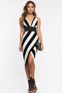 Splitting Stripes Origami DressSplitting Stripes Origami Dress