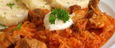 Recept Segedínský guláš s knedlíkem Mashed Potatoes, Chicken, Meat, Ethnic Recipes, Food, Whipped Potatoes, Smash Potatoes, Eten, Meals