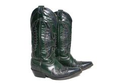 Vintage Womens Cowboy Boots  Green Boots  by GhostClubVintage