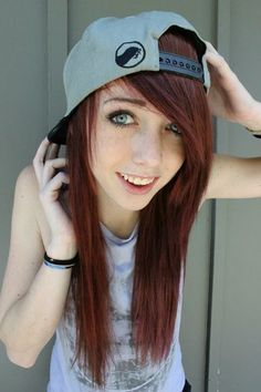 scene girl with brown hair tumblr - Google Search