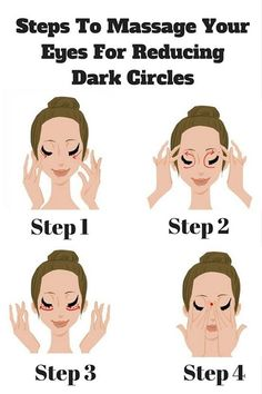 Steps To Massage Your Eyes For Reducing Dark Circles Skin Care Yoga Facial, Face Yoga, Reduce Dark Circles, Dark Circles Under Eyes, Beauty Care, Beauty Skin, Beauty Tips, Skin Tips, Skin Care Tips