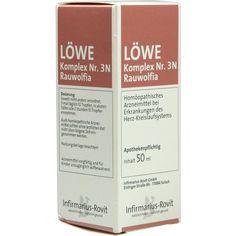 LOEWE KOMPLEX Nr. 3 N Rauwolfia Tropfen:   Packungsinhalt: 50 ml Tropfen PZN: 03068777 Hersteller: Infirmarius GmbH Preis: 8,64 EUR inkl.…