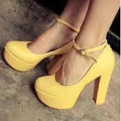 Love these Yellow High Heels, but they would look even better without the platforms! Dream Shoes, Crazy Shoes, Cute Shoes, Me Too Shoes, Yellow High Heels, Yellow Shoes Heels, Spring Sandals, Bridesmaid Shoes, Bridesmaids