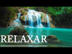 Relaxing music and video of idyllic waterfall, sleep music for relaxation and meditation with soothing music and calming nature sounds, relaxing with wate.