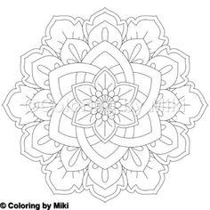 Flower Mandala Coloring Page #249