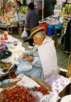 Woman in La Paz market  Bolivia