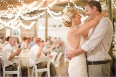 The hanging lights!  Texas Wedding at Red Corral Ranch by Michelle Boyd