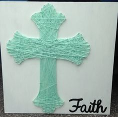 Cross String Art by SimplyHelens on Etsy, $40.00