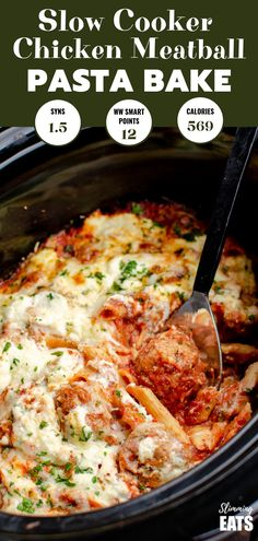 Cooker Chicken Meatball Pasta Bake - a delicious recipe for easy tender chi. Slow Cooker Chicken Meatball Pasta Bake - a delicious recipe for easy tender chi. Slow Cooker Chicken Meatball Pasta Bake - a delicious recipe for easy tender chi. Slow Cooking, Slow Cooked Meals, Cooking Recipes, Recipes For Slow Cooker, Slow Food, Cooking Oil, Slow Cooker Huhn, Slow Cooker Pasta, Pasta In The Crockpot