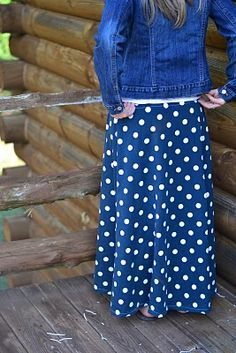 adorable DYI knit maxi skirt