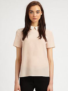 A little #vintage - Marc by Marc Jacobs Alex Silk Crepe Collared Top in Vintage Rose #marcjacobs
