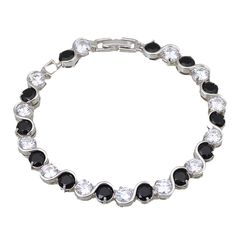 Find More Charm Bracelets Information about Bijouterie Wholesale & Retail white & black Cubic zirconia Gold Overlay Bracelets & bangles fashion jewelry B285,High Quality jewelry component,China jewelry kit Suppliers, Cheap jewelry rod from Dana Jewelry Co., Ltd. on Aliexpress.com