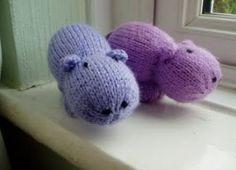 Mini Hippo Free Animal Toy Knitting Pattern