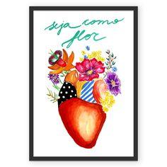 Compre Seja  como flor de @mariela em posters de alta qualidade. Incentive artistas independentes, encontre produtos exclusivos.