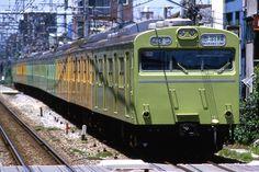103系黄/緑編成.
