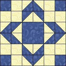 Block of Day for February 22, 2016 - Puss in the Corner-strip piecing-The pattern may be downloaded until: Tuesday, March 1, 2016.