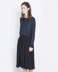 ZARA - WOMAN - LONG SLEEVE T-SHIRT