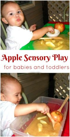 Apple Sensory Play f Apple Sensory Play for Toddlers Apple Sensory Play for babies Apples Sensory bins for babies Edible sensory play Apple theme for toddlers Fall Ideas Nanny Activities, Apple Activities, Sensory Activities, Infant Activities, Spring Activities, Travel Activities, Indoor Activities, Edible Sensory Play, Toddler Sensory Bins