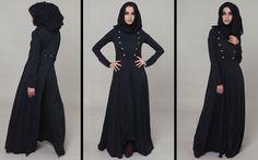 Charreteras Abaya & Chiffon Chic Luxury Black Hijab #AabCollection #Lookbook #Abaya #Hijab #Fashion #Style