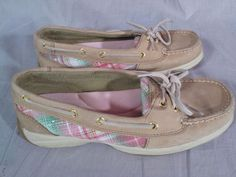 Women's Sperry Top-Sider Boat Shoes Multi-color Size 7.5 M Leather Low #SperryTopSider #BoatShoes