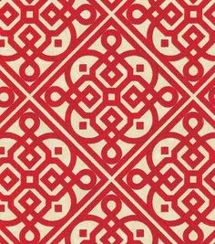 Waverly Upholstery Fabric-Lace It Up Scarlet