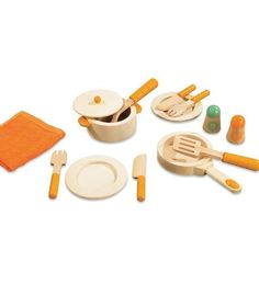 Hape 12-Piece Natural Wood Gourmet Chef Cookware Set by Hape International Inc., http://www.amazon.com/dp/B005T0M0HW/ref=cm_sw_r_pi_dp_36hfrb16Z2EB7