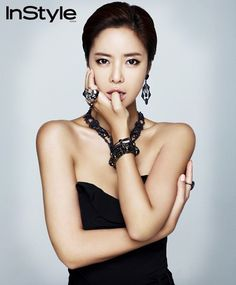 Black Medium Pulled Back Kim Jong Min, Hwang Jung Eum, Instyle Magazine, Asian Hair, Drama Film, Korean Actresses, Black Media, Kpop Girls, Girl Group