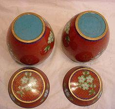 Chinese cloisonne ginger jars