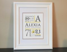Baby Nursery Name Art Girl 8x10 Personalized by BabyBunsDesigns, $14.00
