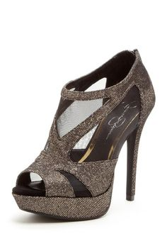 Mesh Open Toe Pump