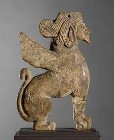 Sphinx furniture ornament from the Levant or southern Anatolia (possibly Qatna). Date: c.1600BC | Location: Louvre Museum