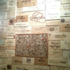 Awesome wine box wall