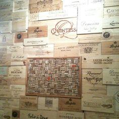 Awesome wine box wall