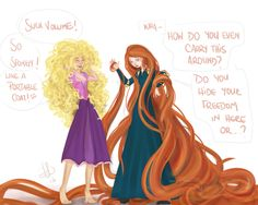 Rapunzel & Merida hair swap 1