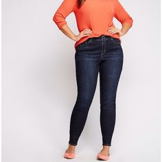 Lane Bryant jeans Curve-loving skinny jean with Tighter Tummy Technology provides stylish slimming! Our specially-designed T3 control panel firms and flattens your tummy, and features a hidden elastic waistband and higher rise for a no-gap fit. Classic five pocket design. Double button & zip fly closure and belt loops. Skinny style. Worn once. Marked as 22 but fits 20 better. Lane Bryant Jeans Skinny