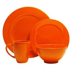 This orange-colored serving set is handcrafted in Germany of high-fired ceramic earthenware that is dishwasher safe. Mix and match with other trendy Waechtersbach colors to make a table all your own.