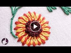 Long and Short Stitch Beautiful Flower