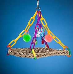 Super Bird Creations Flying Trapeze Platform Swing Bird Toy