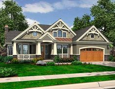 Choose a front or side entrance garage. Nice floor plan. Build on a basement.