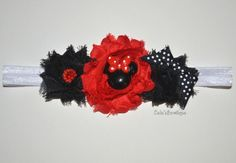 Red and Black Inspired Minnie Mouse Headband