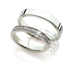 Stunning white Gold Couple Wedding Rings carats mm mm possible wedding bands