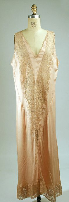 1930 French silk nightgown