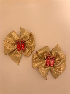 Gold gift box bows