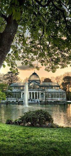 Spain Travel - Crystal Palace, El Retiro park, Madrid, Spain Crystal Palace Madrid, Malaga, Spain Madrid, Madrid Espana, Parks, Crystal Castle, Wonderful Places, Beautiful Places, Amazing Places