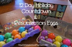Easter countdown & resurrection eggs for kids from HowToHomeschoolMyChild.com