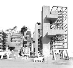 Rendering of urban-architectural concept design for the BADEL SITE redevelopment (2012)   Source: Gonzalo del Val