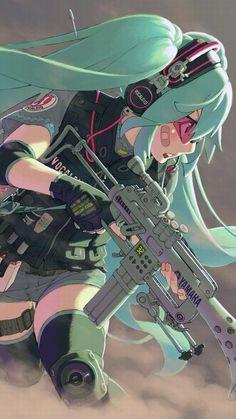 Miku Hatsune Vocaloid gun war bandage