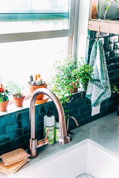 Green and boho kitchen